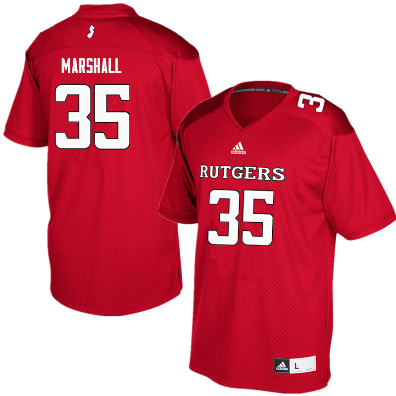 Men #35 Anthony Marshall Rutgers Scarlet Knights College Football Jerseys Sale-Red