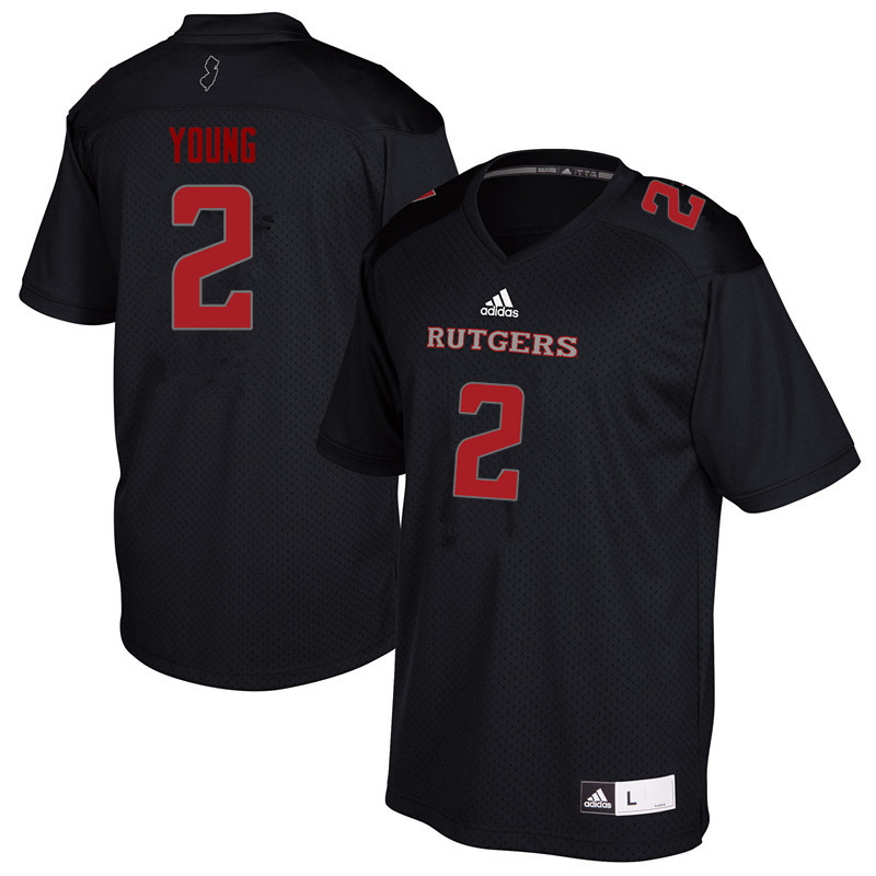 Men #2 Avery Young Rutgers Scarlet Knights College Football Jerseys Sale-Black