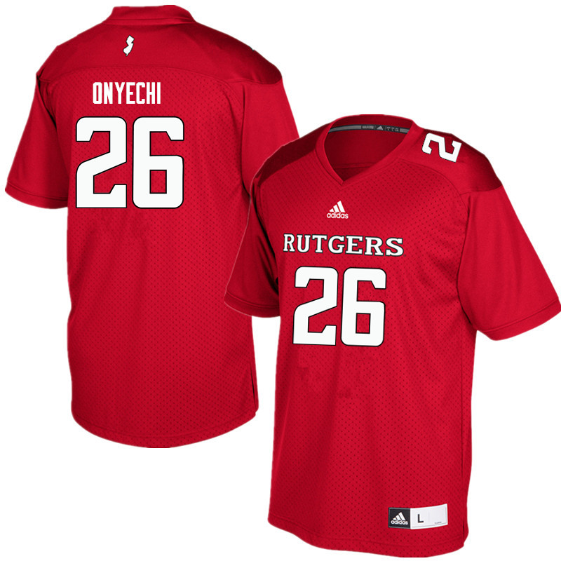 Men #26 CJ Onyechi Rutgers Scarlet Knights College Football Jerseys Sale-Red