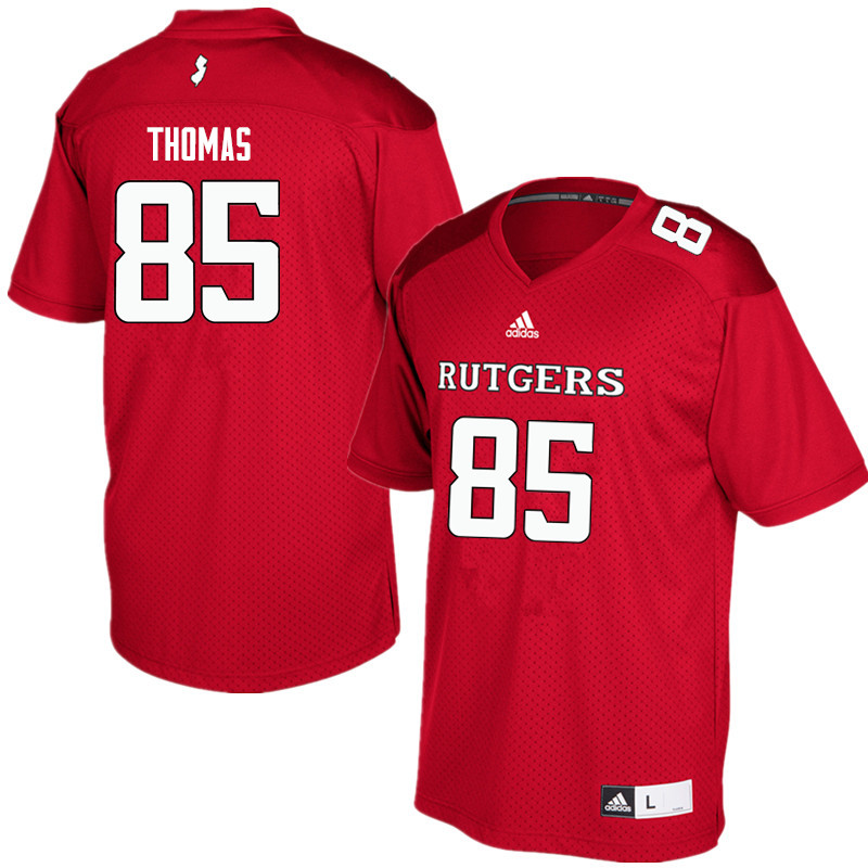 Men #85 Matt Thomas Rutgers Scarlet Knights College Football Jerseys Sale-Red