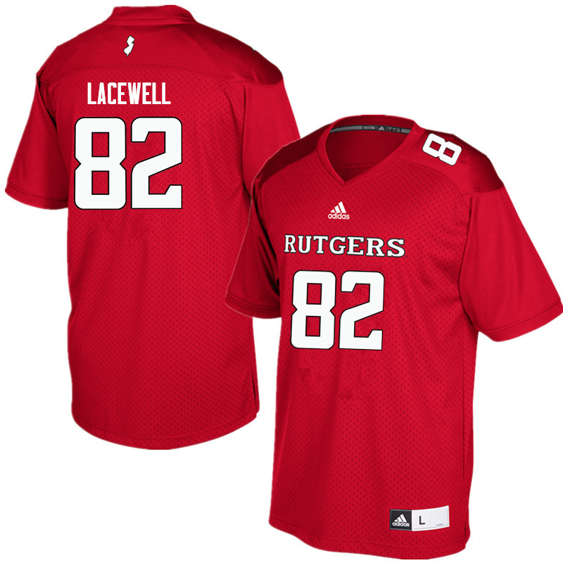 Men #82 Zihir Lacewell Rutgers Scarlet Knights College Football Jerseys Sale-Red