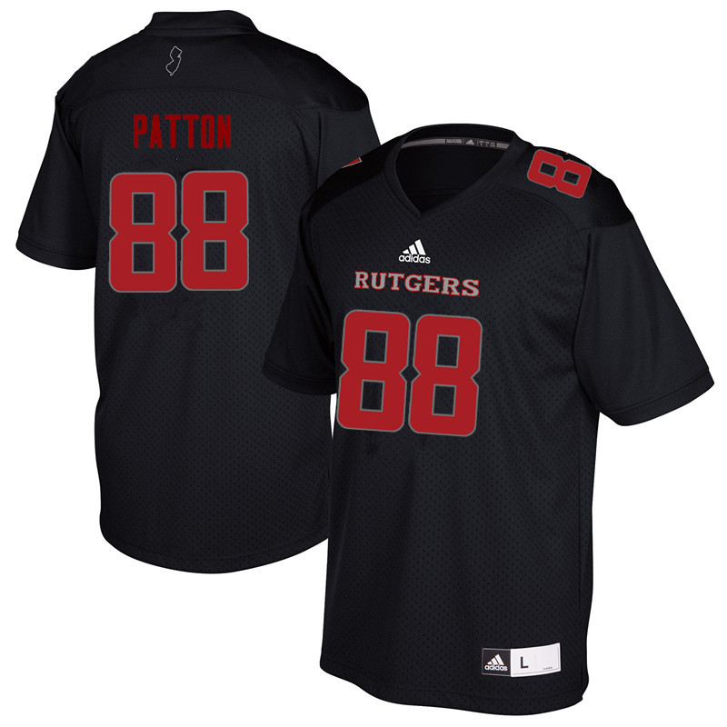 Men #88 Andre Patton Rutgers Scarlet Knights College Football Jerseys Sale-Black