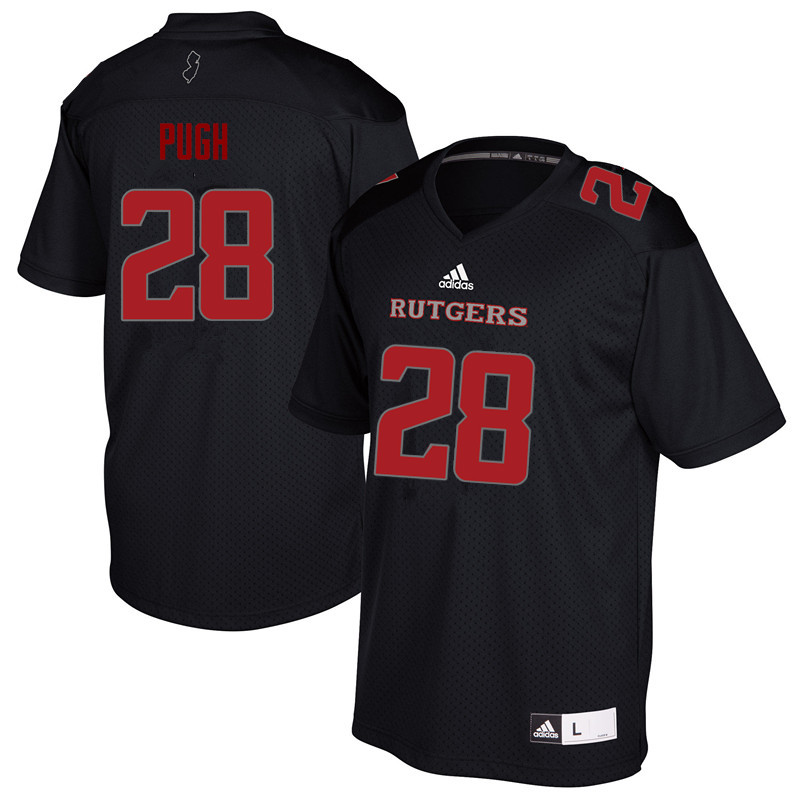 Men #28 Aslan Pugh Rutgers Scarlet Knights College Football Jerseys Sale-Black