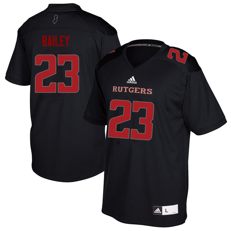 Men #23 Dacoven Bailey Rutgers Scarlet Knights College Football Jerseys Sale-Black