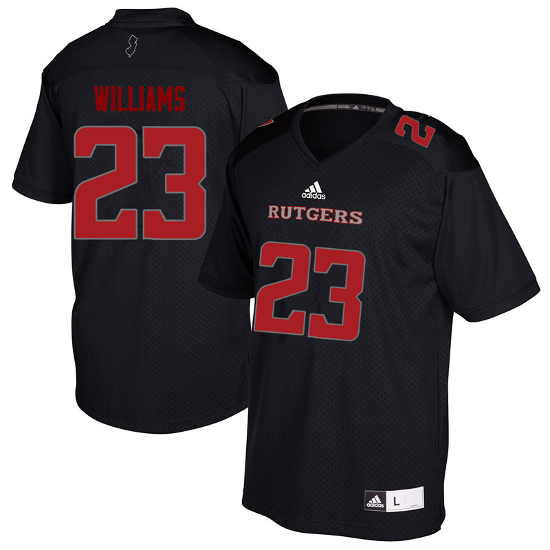 Men #23 Donald Williams Rutgers Scarlet Knights College Football Jerseys Sale-Black
