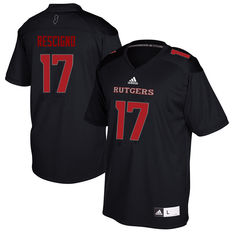 Men #17 Giovanni Rescigno Rutgers Scarlet Knights College Football Jerseys Sale-Black