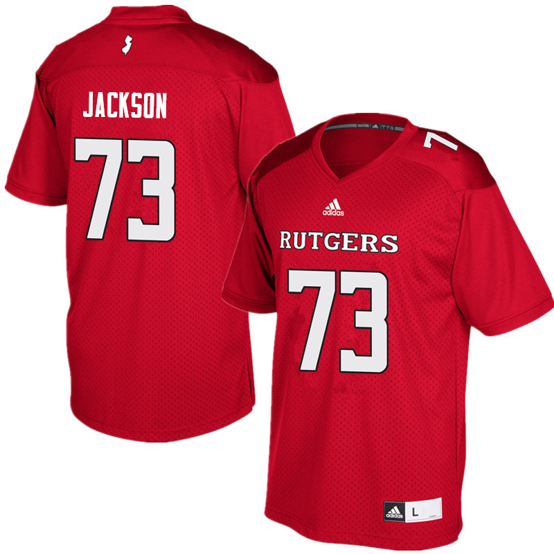 Men #73 Jonah Jackson Rutgers Scarlet Knights College Football Jerseys Sale-Red