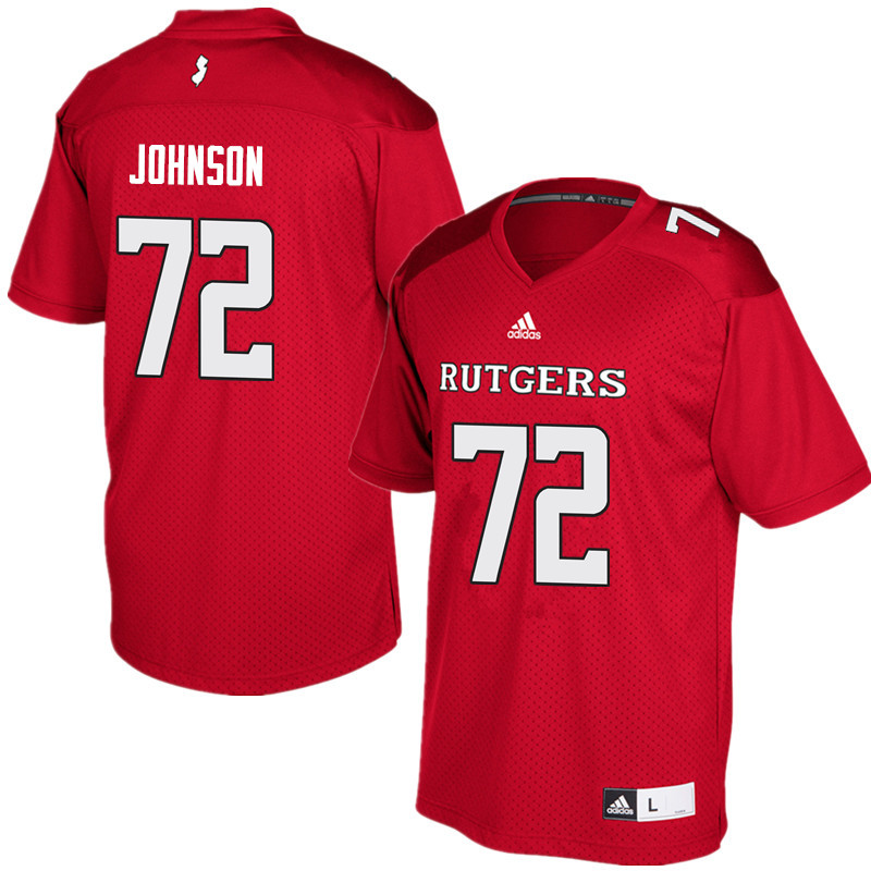 Men #72 Kaleb Johnson Rutgers Scarlet Knights College Football Jerseys Sale-Red