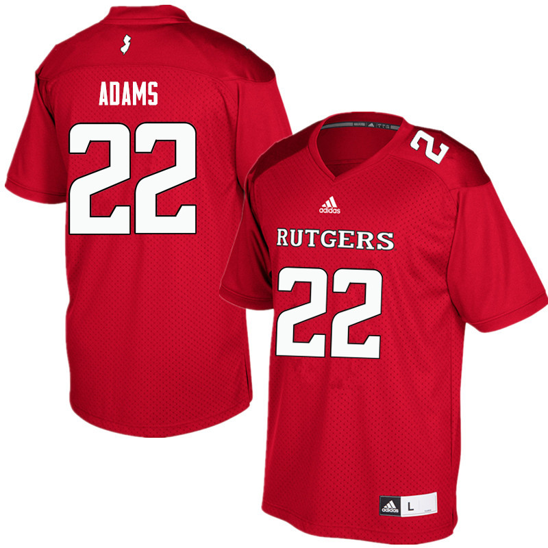 Men #22 Kay'Ron Adams Rutgers Scarlet Knights College Football Jerseys Sale-Red