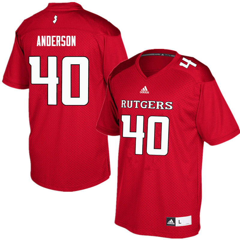 Men #40 Nihym Anderson Rutgers Scarlet Knights College Football Jerseys Sale-Red