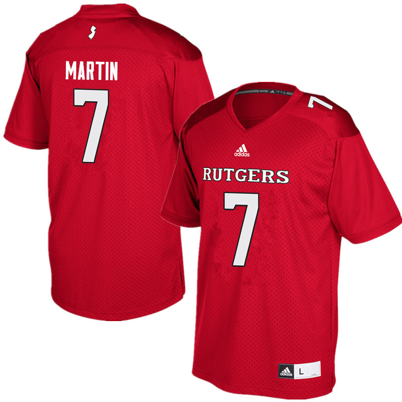Men #7 Robert Martin Rutgers Scarlet Knights College Football Jerseys Sale-Red