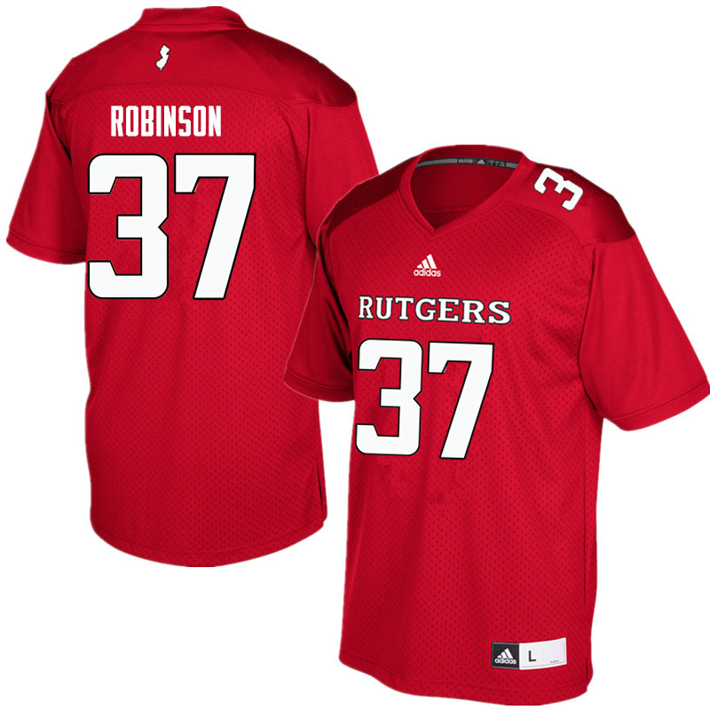 Men #37 TJ Robinson Rutgers Scarlet Knights College Football Jerseys Sale-Red