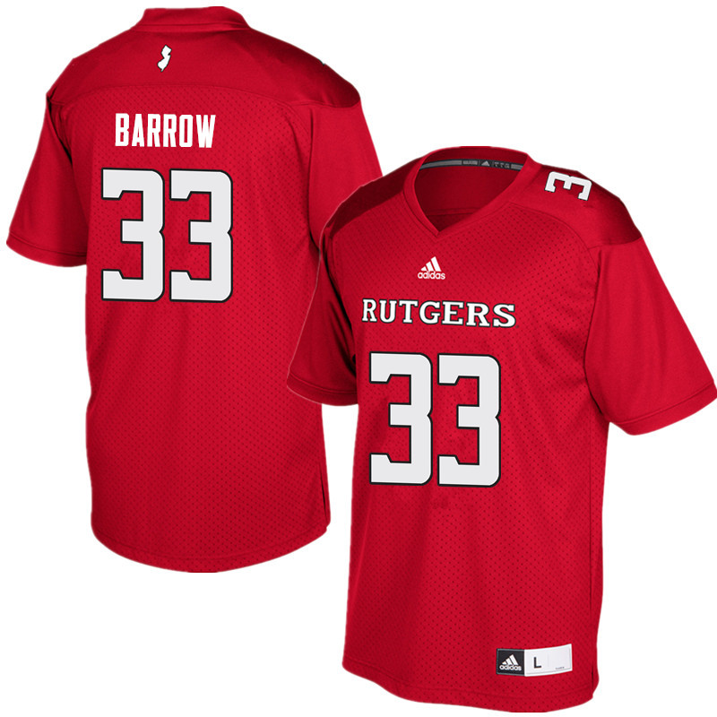 Men #33 Tim Barrow Rutgers Scarlet Knights College Football Jerseys Sale-Red