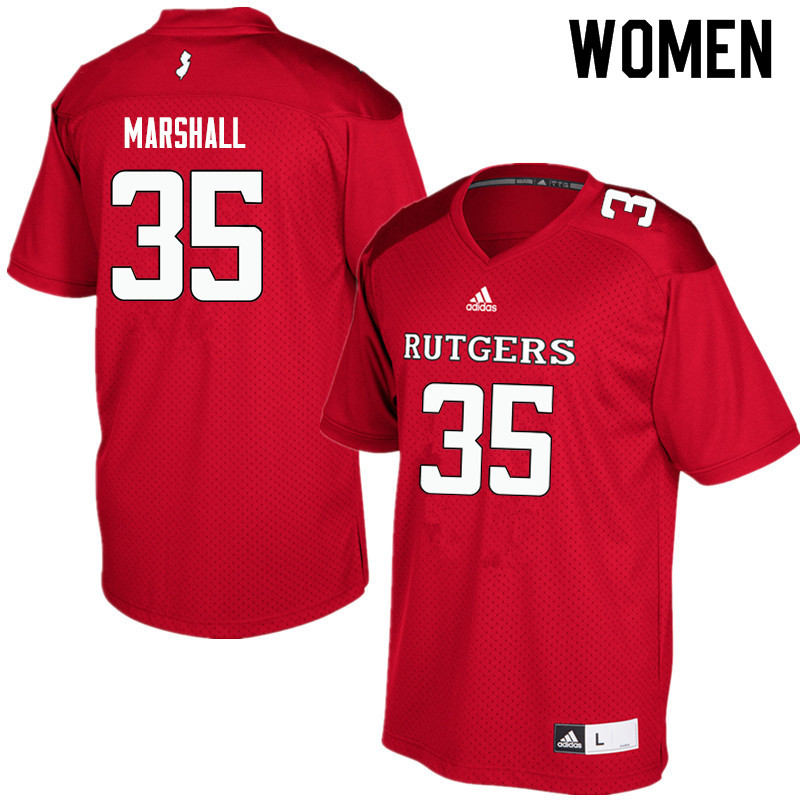 Women #35 Anthony Marshall Rutgers Scarlet Knights College Football Jerseys Sale-Red