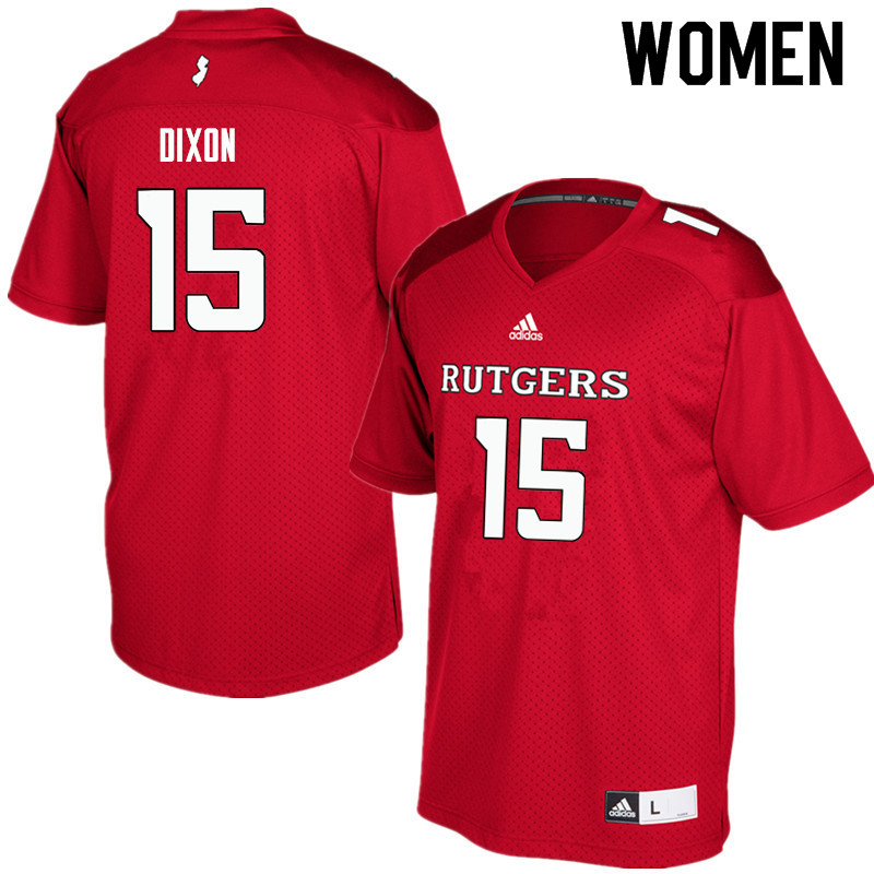 Women #15 Malik Dixon Rutgers Scarlet Knights College Football Jerseys Sale-Red