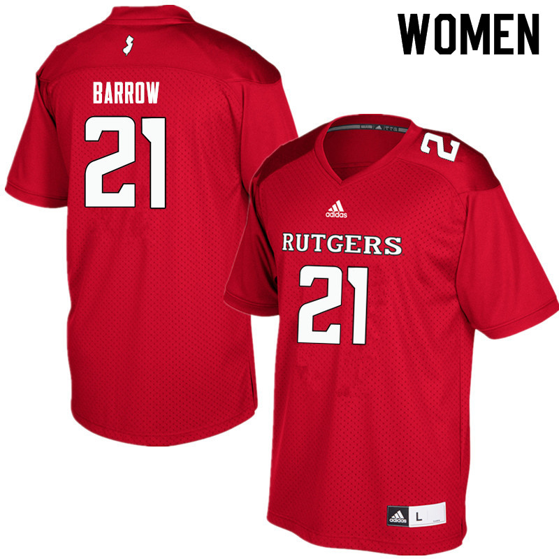 Women #21 Tim Barrow Rutgers Scarlet Knights College Football Jerseys Sale-Red
