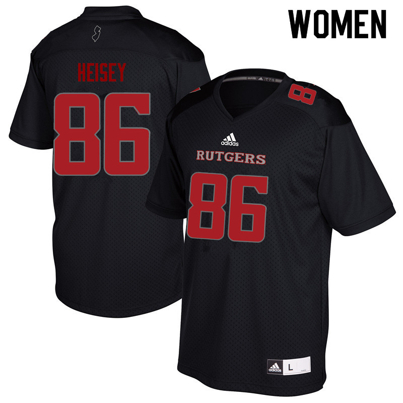 Women #86 Cooper Heisey Rutgers Scarlet Knights College Football Jerseys Sale-Black