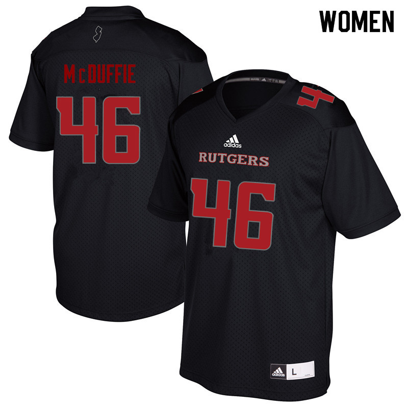 Women #46 Davante McDuffie Rutgers Scarlet Knights College Football Jerseys Sale-Black