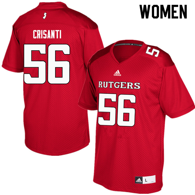 Women #56 Donato Crisanti Rutgers Scarlet Knights College Football Jerseys Sale-Red