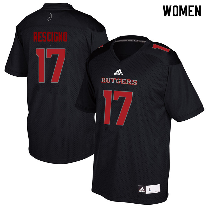 Women #17 Giovanni Rescigno Rutgers Scarlet Knights College Football Jerseys Sale-Black