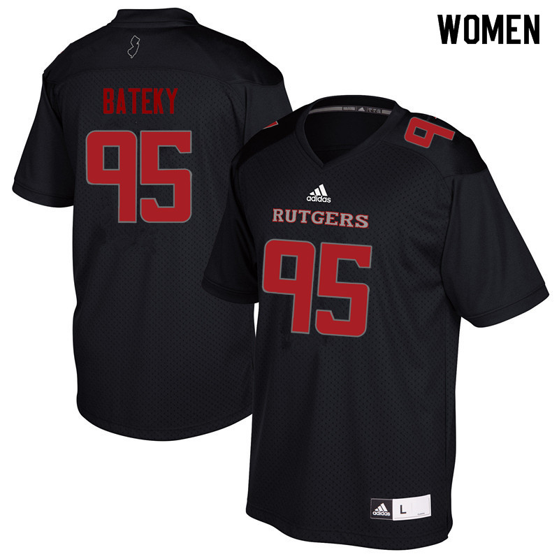 Women #95 Jon Bateky Rutgers Scarlet Knights College Football Jerseys Sale-Black