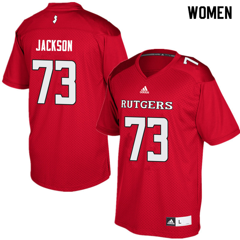 Women #73 Jonah Jackson Rutgers Scarlet Knights College Football Jerseys Sale-Red