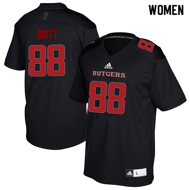 Women #88 Kenny Britt Rutgers Scarlet Knights College Football Jerseys Sale-Black