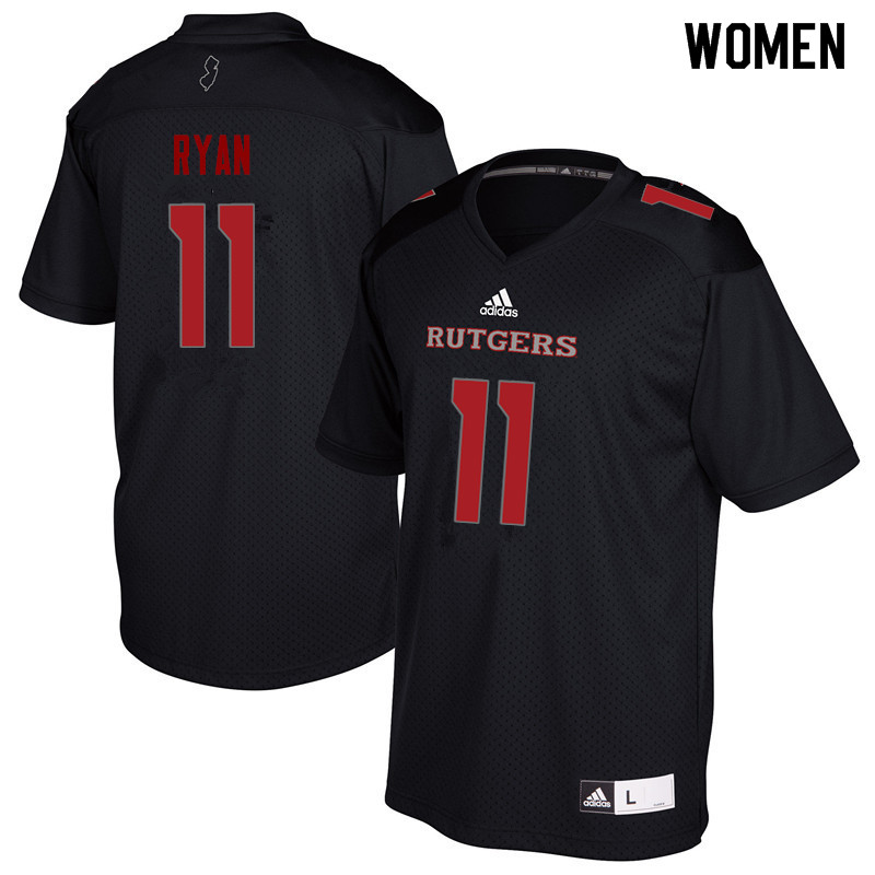 Women #11 Logan Ryan Rutgers Scarlet Knights College Football Jerseys Sale-Black
