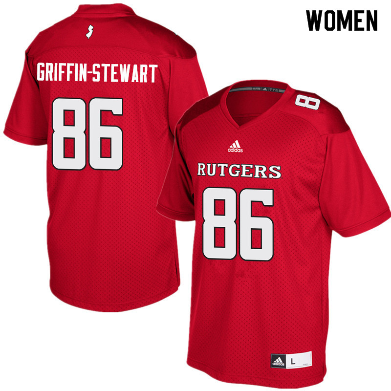 Women #86 Nakia Griffin-Stewart Rutgers Scarlet Knights College Football Jerseys Sale-Red