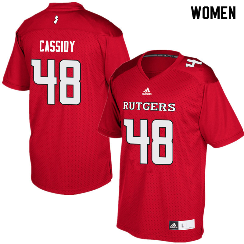 Women #48 Ryan Cassidy Rutgers Scarlet Knights College Football Jerseys Sale-Red