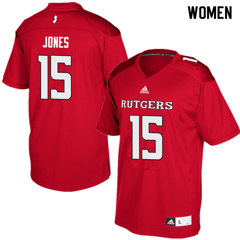 Women #15 Shameen Jones Rutgers Scarlet Knights College Football Jerseys Sale-Red
