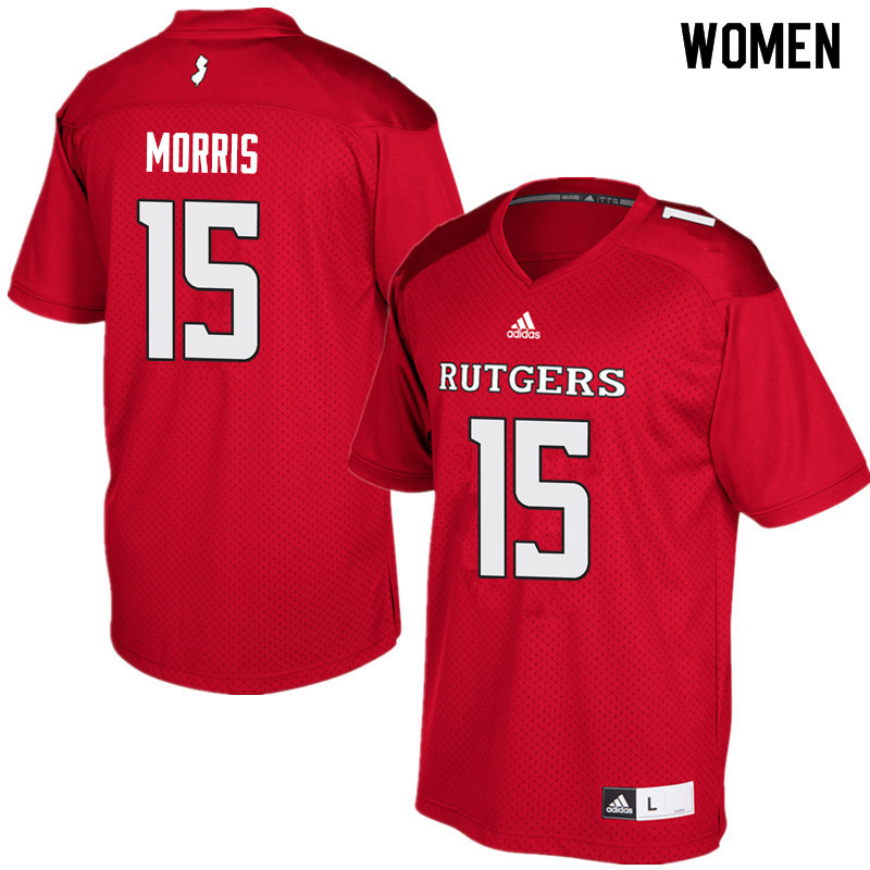 Women #15 Trevor Morris Rutgers Scarlet Knights College Football Jerseys Sale-Red
