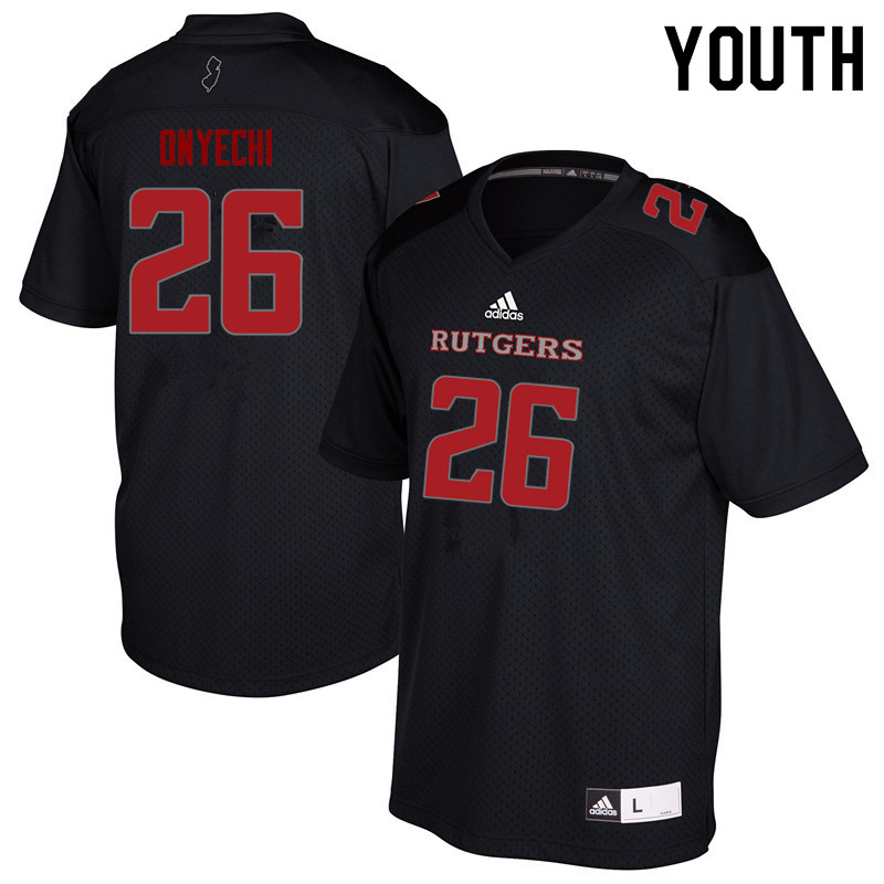 Youth #26 CJ Onyechi Rutgers Scarlet Knights College Football Jerseys Sale-Black