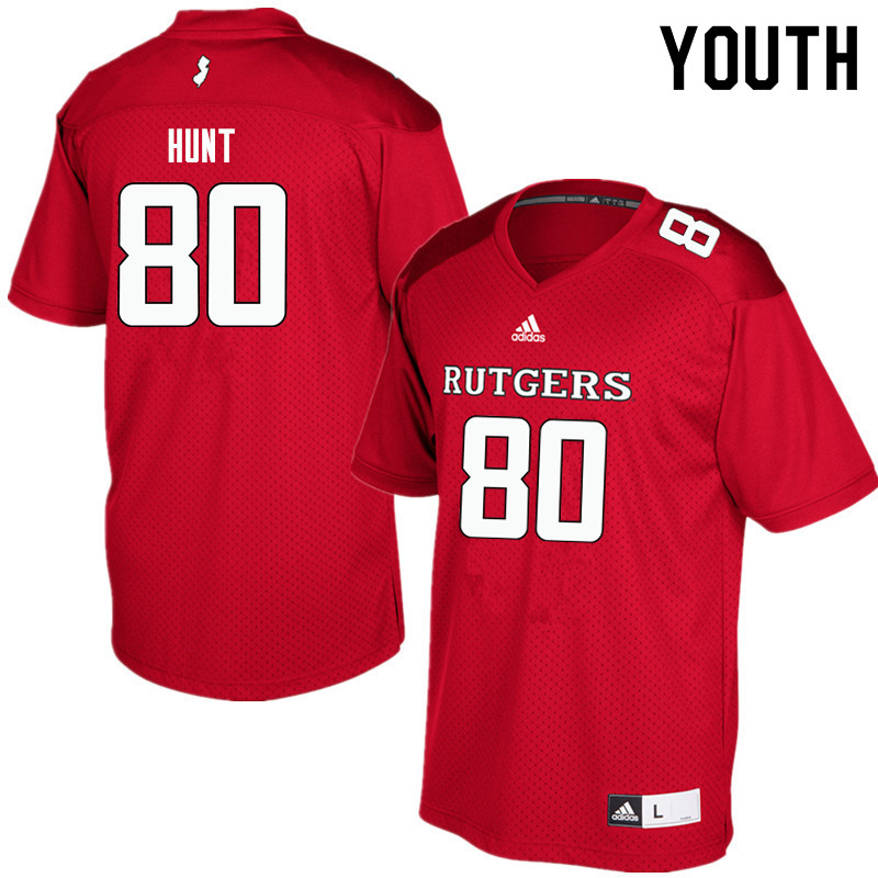 Youth #80 Monterio Hunt Rutgers Scarlet Knights College Football Jerseys Sale-Red