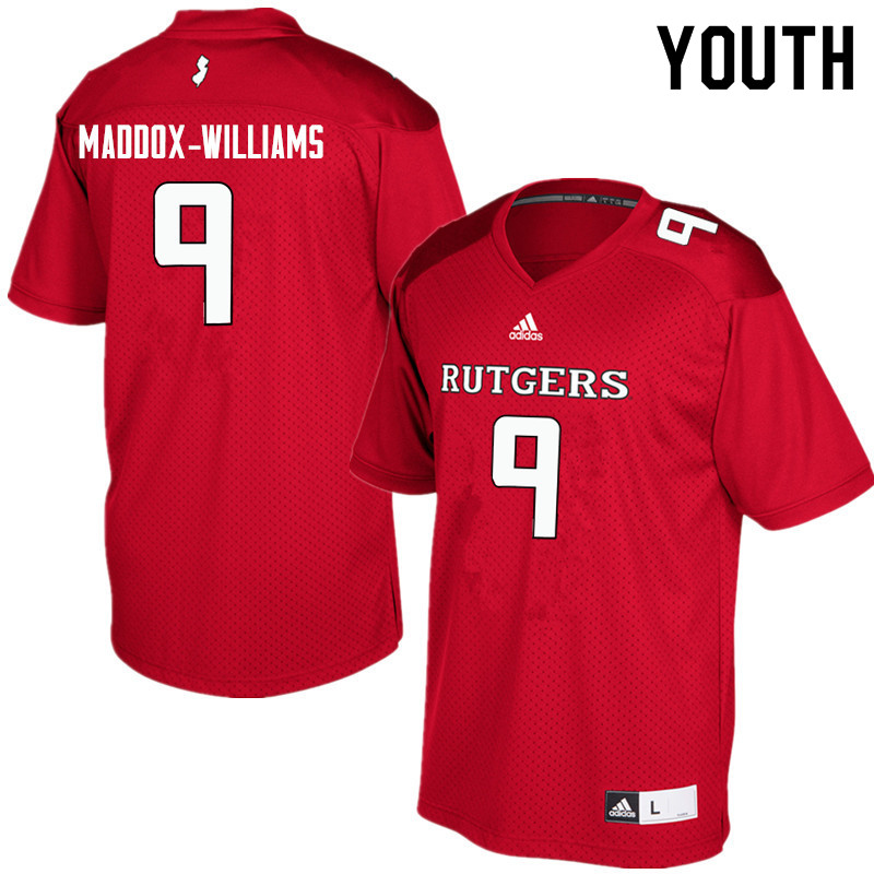 Youth #9 Tyreek Maddox-Williams Rutgers Scarlet Knights College Football Jerseys Sale-Red