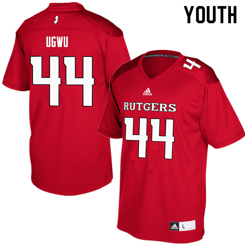 Youth #44 Brian Ugwu Rutgers Scarlet Knights College Football Jerseys Sale-Red