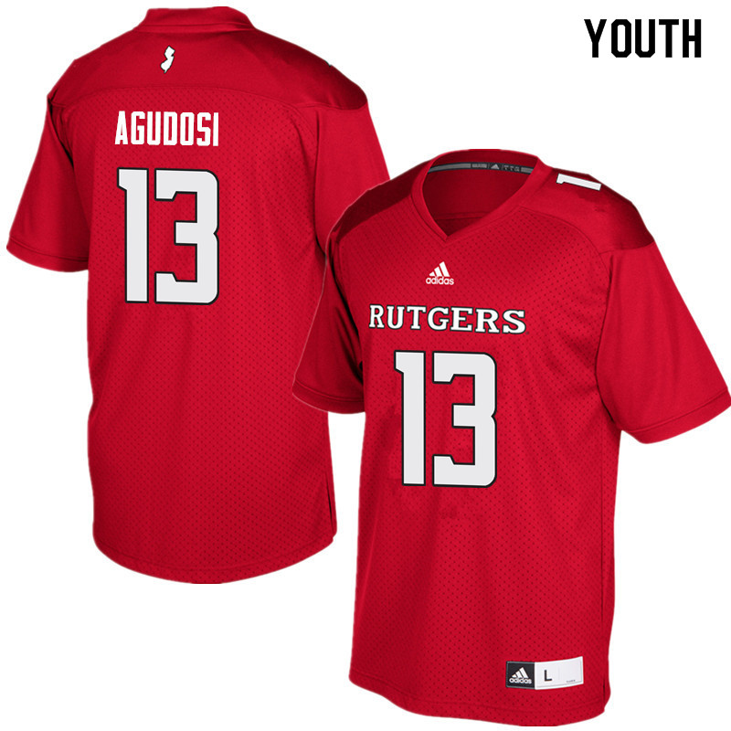Youth #13 Carlton Agudosi Rutgers Scarlet Knights College Football Jerseys Sale-Red