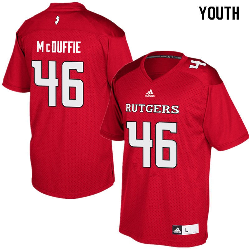 Youth #46 Davante McDuffie Rutgers Scarlet Knights College Football Jerseys Sale-Red