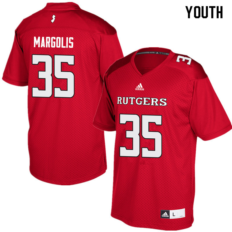 Youth #35 Eric Margolis Rutgers Scarlet Knights College Football Jerseys Sale-Red