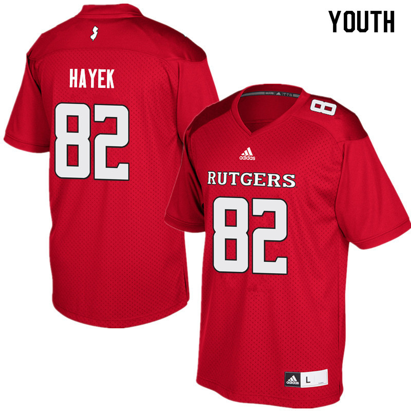 Youth #82 Hunter Hayek Rutgers Scarlet Knights College Football Jerseys Sale-Red