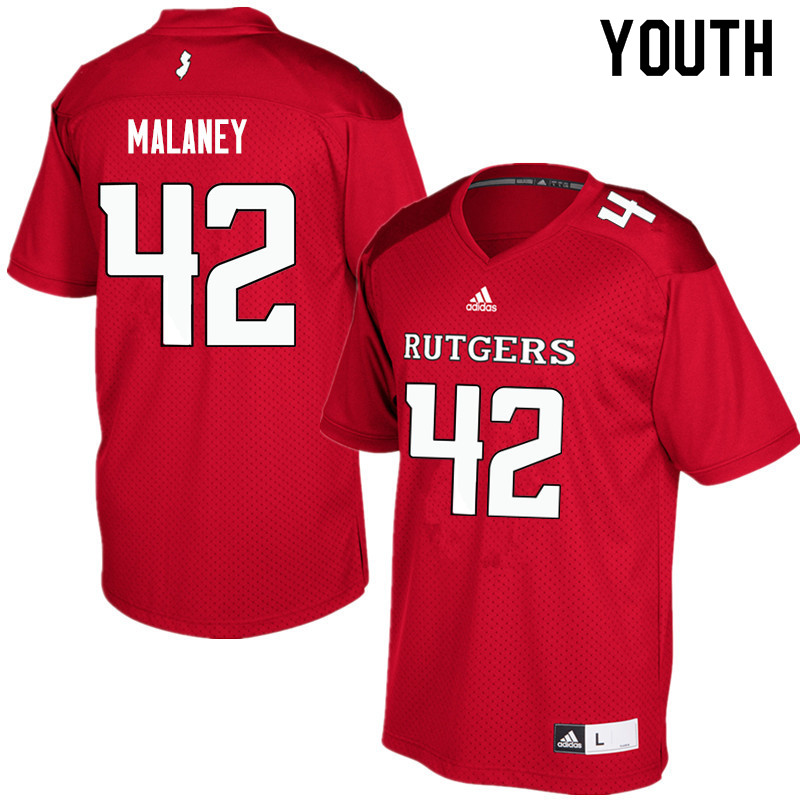 Youth #42 Jake Malaney Rutgers Scarlet Knights College Football Jerseys Sale-Red
