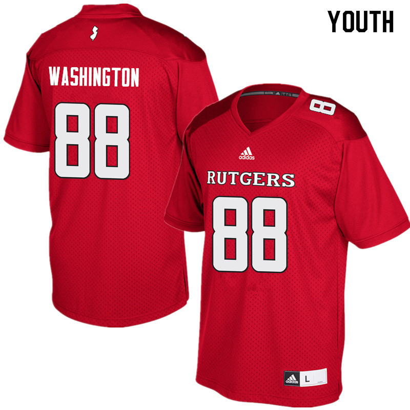 Youth #88 Jerome Washington Rutgers Scarlet Knights College Football Jerseys Sale-Red