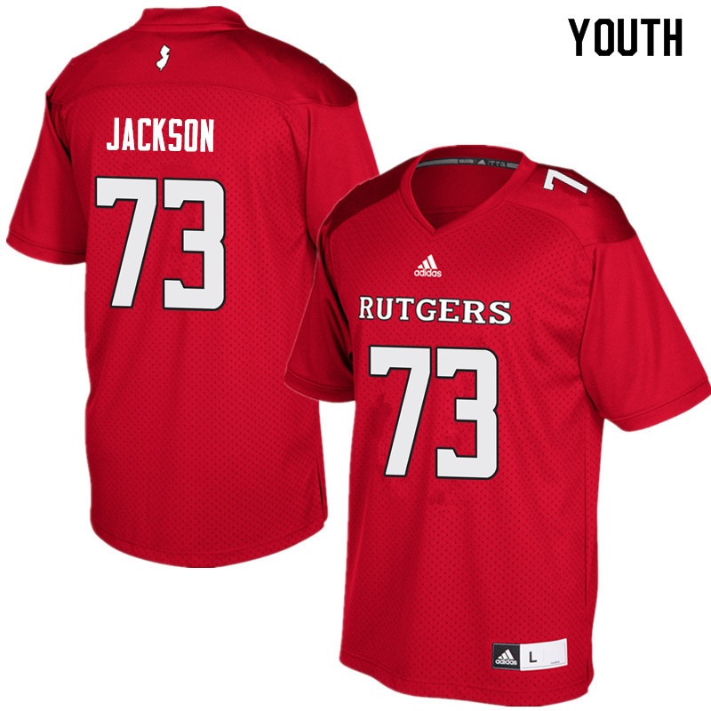 Youth #73 Jonah Jackson Rutgers Scarlet Knights College Football Jerseys Sale-Red