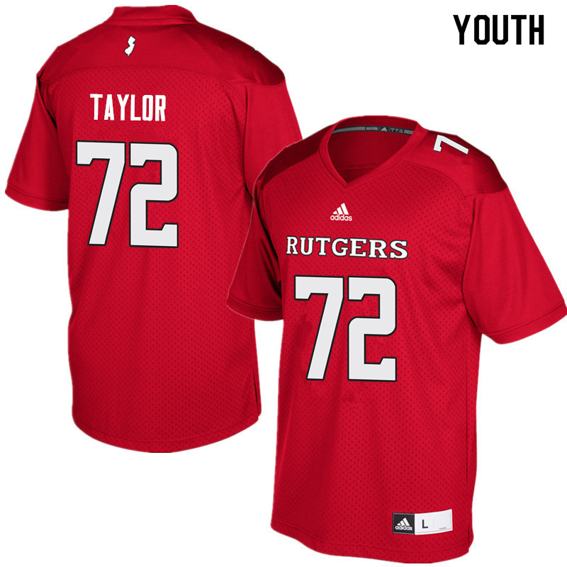 Youth #72 Manny Taylor Rutgers Scarlet Knights College Football Jerseys Sale-Red