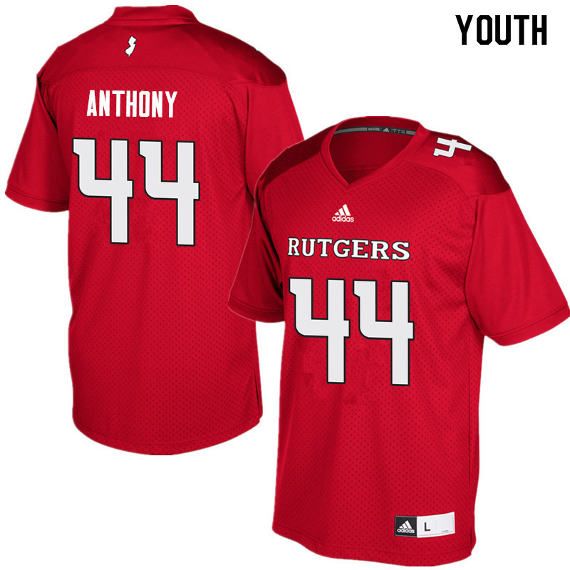Youth #44 Max Anthony Rutgers Scarlet Knights College Football Jerseys Sale-Red