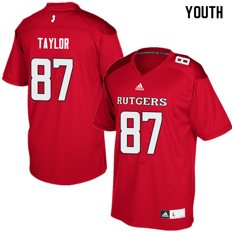 Youth #87 Prince Taylor Rutgers Scarlet Knights College Football Jerseys Sale-Red