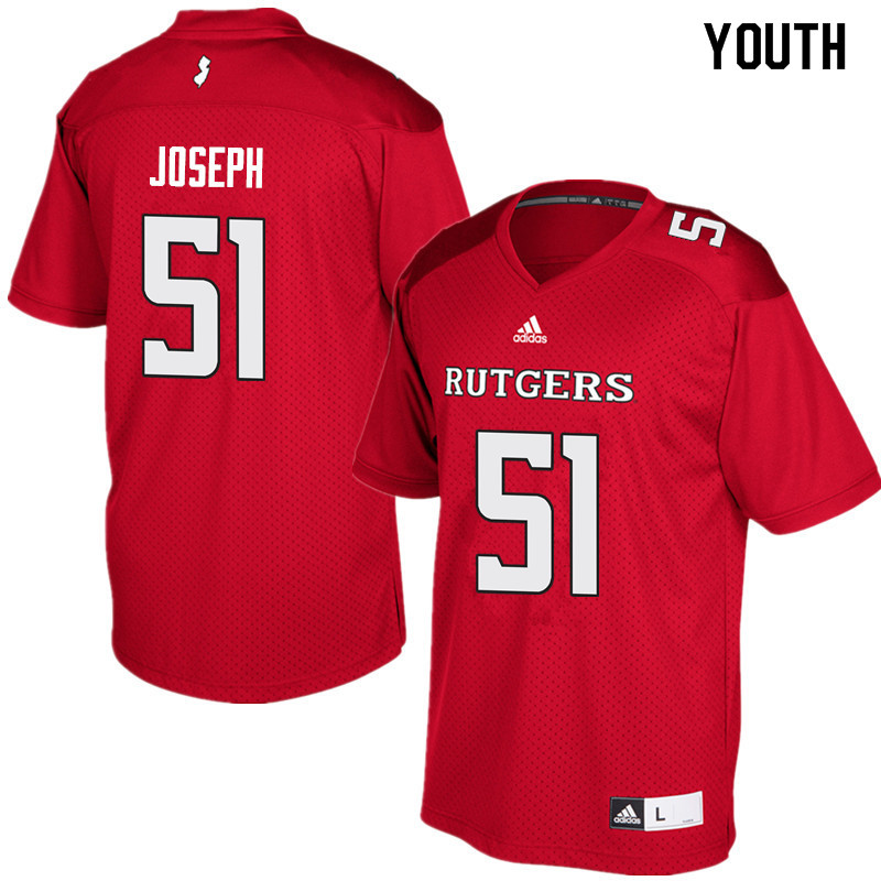 Youth #51 Sebastian Joseph Rutgers Scarlet Knights College Football Jerseys Sale-Red
