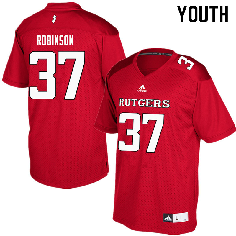 Youth #37 TJ Robinson Rutgers Scarlet Knights College Football Jerseys Sale-Red