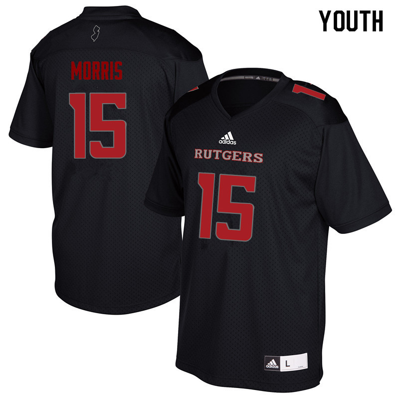 Youth #15 Trevor Morris Rutgers Scarlet Knights College Football Jerseys Sale-Black