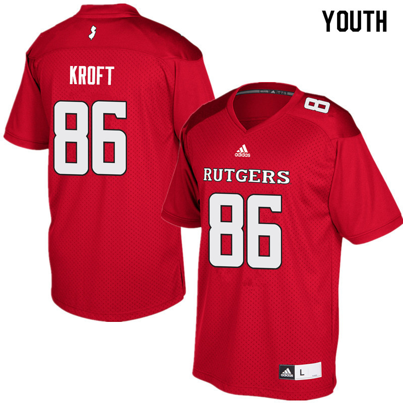 Youth #86 Tyler Kroft Rutgers Scarlet Knights College Football Jerseys Sale-Red